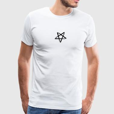Satanic Black Pentagram - Men's Premium T-Shirt