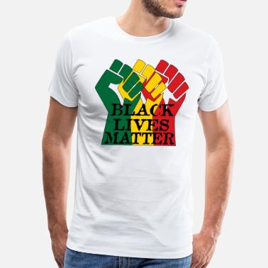 Africa Green Yellow Red Black Lives Matter - Men's Premium T-Shirt