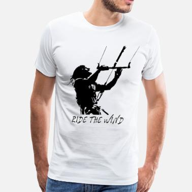Kite Surf - Ride the Wind - Men's Premium T-Shirt