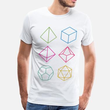 Dnd Minimal dnd (dungeons and dragons) dice - Men's Premium T-Shirt