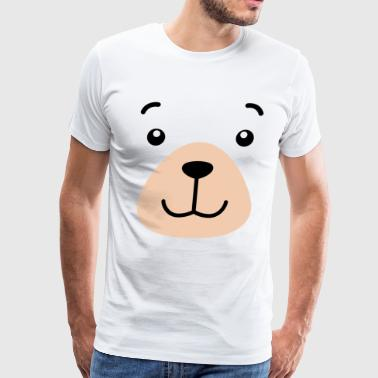 Bear Face Costume Shirt Funny And Cute Animal Tee - Men's Premium T-Shirt