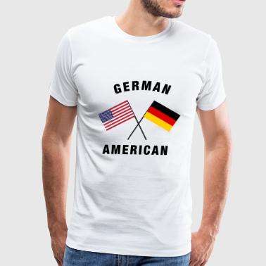 German American German American Flag - Men's Premium T-Shirt
