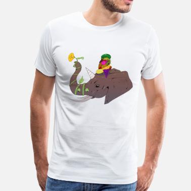 3ce024773fd Flower Children Elephant Flower - Men s Premium T-Shirt