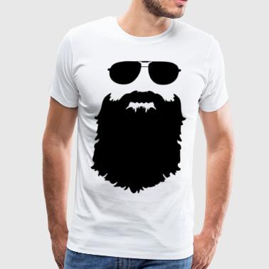 Beard Sunglasses Silhouette - Men's Premium T-Shirt