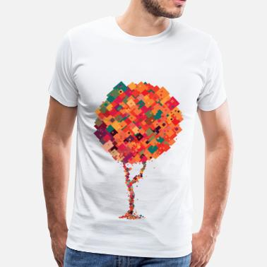 Colourful Tree Colourful pixel tree - Men's Premium T-Shirt