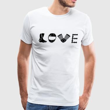 Motorcycle Boots Biker Love - Men's Premium T-Shirt