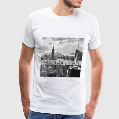 Manhattan Zip Codes Grey - Men's Premium T-Shirt