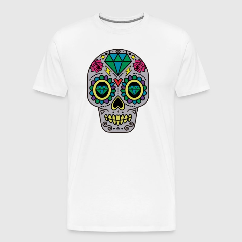 ROCK N ROLL SKULL T-SHIRT - Men's Premium T-Shirt