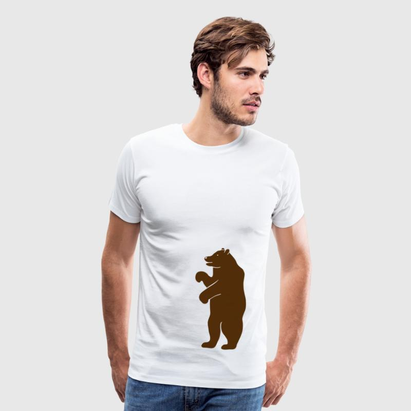 bear beer berlin  strong hunter hunting wilderness grizzly predator - Men's Premium T-Shirt