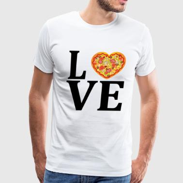 I Love Pizza I love pizza - Men's Premium T-Shirt