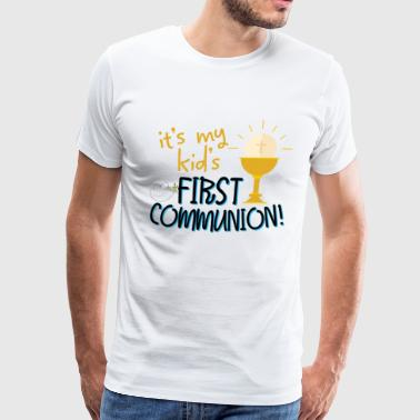 Holy Communion Catholic Grandson Granddaughter Gift - Men's Premium T-Shirt