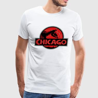 JURASSIC CHICAGO BULLS - Men's Premium T-Shirt