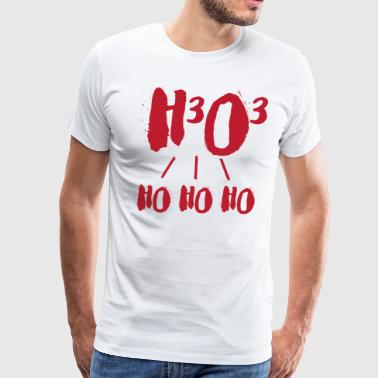 Chemist Christmas h3o3 - Men's Premium T-Shirt
