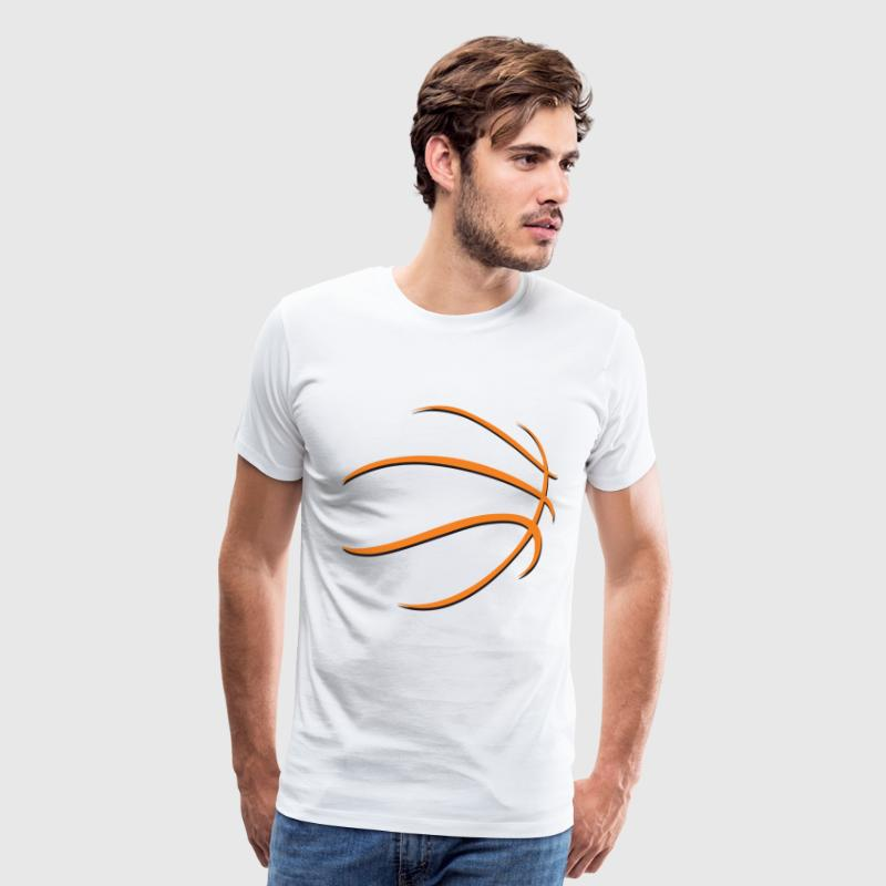 basketball ball lines - Men's Premium T-Shirt
