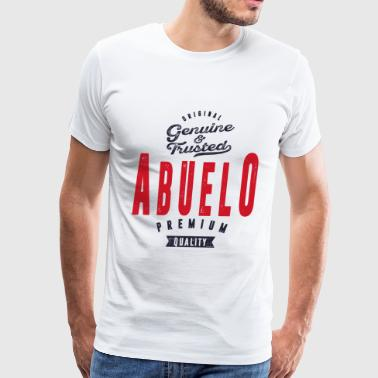 Father Gift Idea ABUELO - Men's Premium T-Shirt