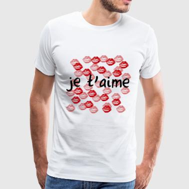 I Love je t'aime - Men's Premium T-Shirt