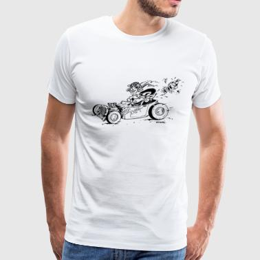A Hot Rod a Wolf and a Fox - Men's Premium T-Shirt
