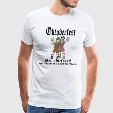 Oktoberfest Get Shit Faced - Men's Premium T-Shirt