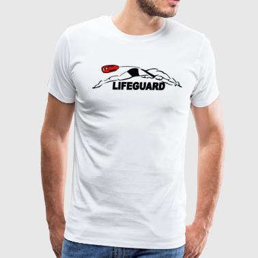 Bax Sport Lifeguard plunge - Men's Premium T-Shirt