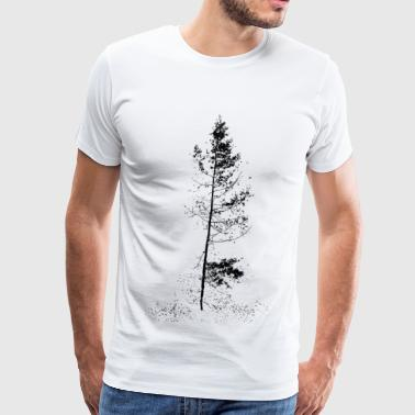 aspen tree solitude silhouette - Men's Premium T-Shirt