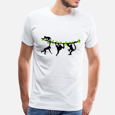 Climbing-monkeys Climbing Monkeys - 2 colors - Men's Premium T-Shirt