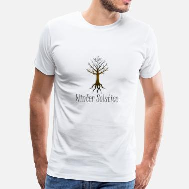 Pagan Magic Winter solstice FALL TREE magic pagan wiccan - Men's Premium T-Shirt