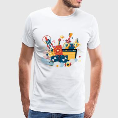 Music illustration - Men's Premium T-Shirt