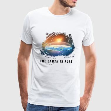 the earth is flat - Men's Premium T-Shirt