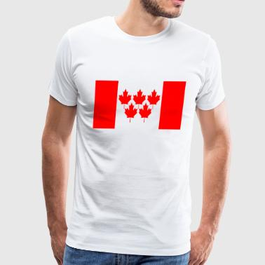 Canada Ski Flag Canada Flag 5 Maple Leaf Winter Games - Men's Premium T-Shirt
