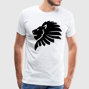 Lion Head HD VECTOR - Men's Premium T-Shirt