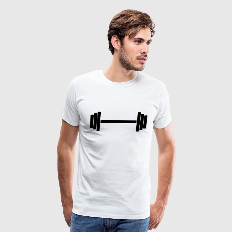 Gym Dumbbell Barbell Weight Athletics 1c - Men's Premium T-Shirt