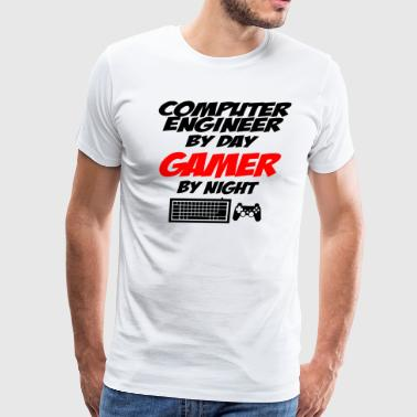 computer engineer gamer - Men's Premium T-Shirt