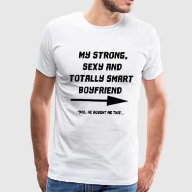 strong sexy smart boyfriend - Men's Premium T-Shirt