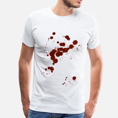 Blood Splatter bloodstains - Men's Premium T-Shirt