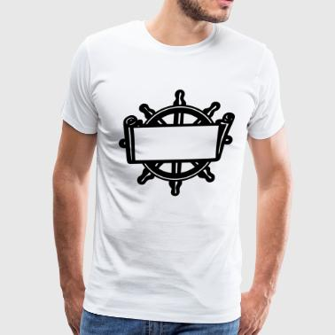 Ship Steering Wheel - Men's Premium T-Shirt