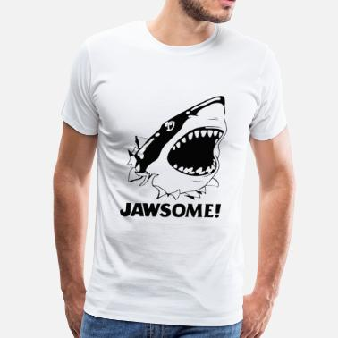 Shark Fin Comic T-shirt for Shark lover - Jawsome - Men's Premium T-Shirt