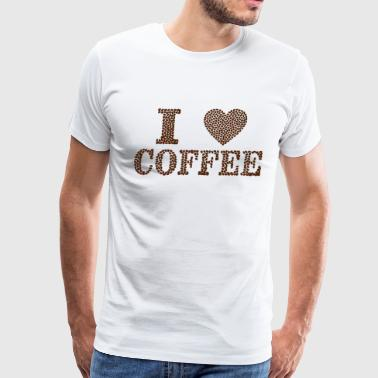 I love coffee T-shirt for Coffee lovers - Men's Premium T-Shirt