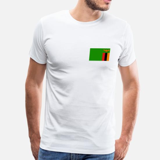 Zambia Flag Men's Premium T-Shirt | Spreadshirt
