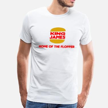 Floppers King James - Home Of The Flopper - Men's Premium T-Shirt