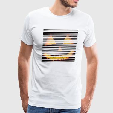 Scary Halloween Themed Pumpkin Barcode - Men's Premium T-Shirt