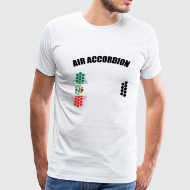 Airbrush Cartoon AIR Accordion Mexico Edition T-Shirt THE ORIGINAL - Men's Premium T-Shirt