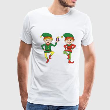 Christmas Xmas Elf Elves - Men's Premium T-Shirt