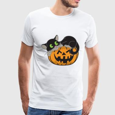 Halloween Pumpkin Monster Zombie Horror - Men's Premium T-Shirt