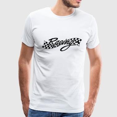 Racing - Racer - Checkered Flag - Men's Premium T-Shirt