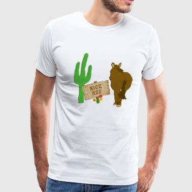 Donkey Burro Butts - Men's Premium T-Shirt