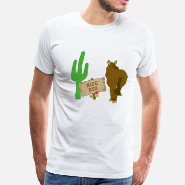 Cowboy Butts Donkey Burro Butts - Men's Premium T-Shirt