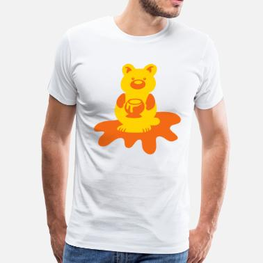 Honey Bear HONEY BEAR with sticky honey pot - Men's Premium T-Shirt