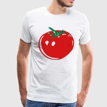 Red And Green Tomato (green - red - white) - Men's Premium T-Shirt