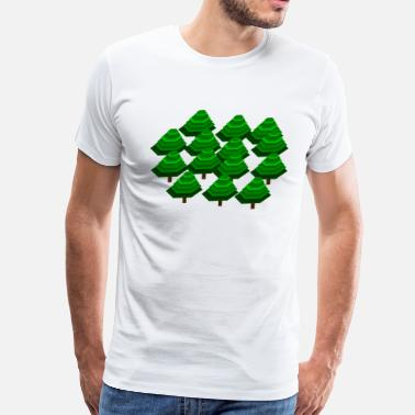 Emerald Wood Forest Tree - Men's Premium T-Shirt