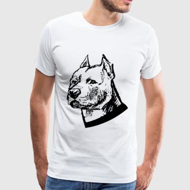 Head Pitbull Dog Pitbull head - Men's Premium T-Shirt
